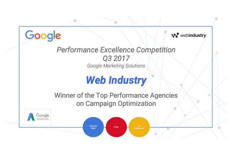 Web Industry vince la Performance Excellence Competition di Google